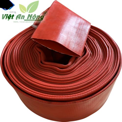 Ống bạt phủ nhựa mềm QV Việt An Nông màu cam - phi 150mm 1