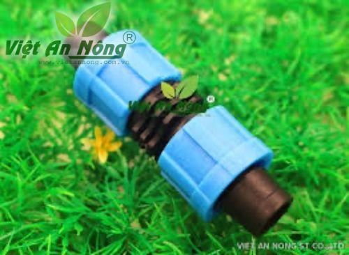 Nối thẳng ren vặn dây nhỏ giọt 16mm dẹp 2