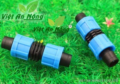 Nối thẳng ren vặn dây nhỏ giọt 16mm dẹp 1