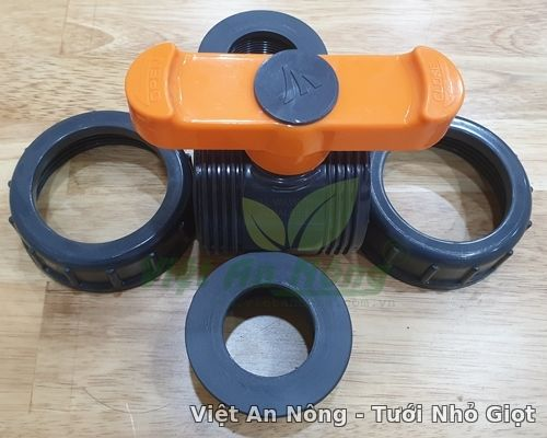 Van cầu rắc co hai đầu ren phi 34mm - Automat_Vietannong 7
