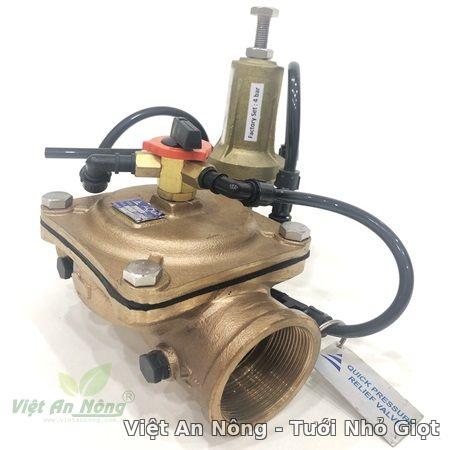 Van giảm áp hydraulic bằng đồng phi 60mm Automat 1