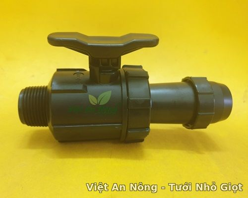 Van ren ngoài dây tưới phun mưa 34, 42mm Việt An Nông