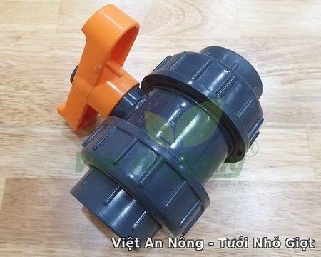Van cầu rắc co hai đầu ren phi 49mm - Automat Việt An Nông