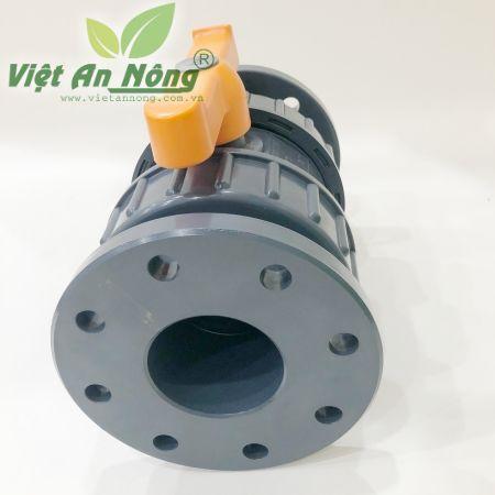 Van cầu rắc co hai đầu mặt bích phi 90mm - Automat 3