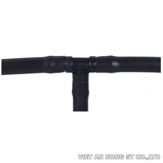 Chữ Tê đen gắn ống PE 5mm, 6mm dùng trong hệ thống nhỏ giọt cây trồng